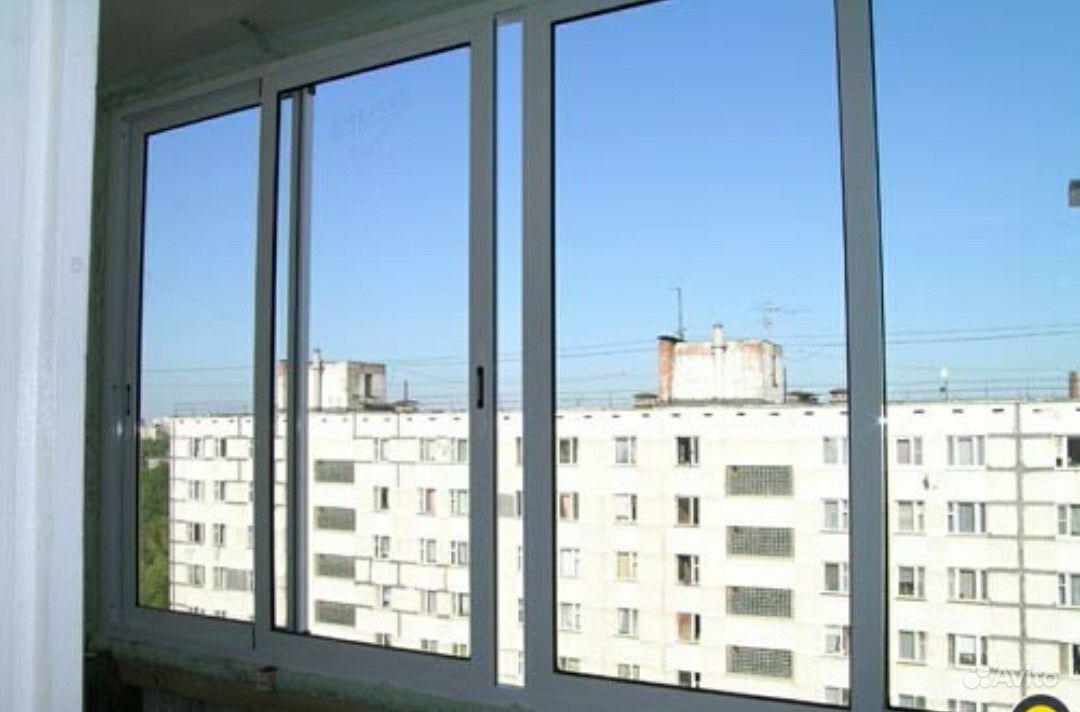 Алюминиевые рамы на балконе..