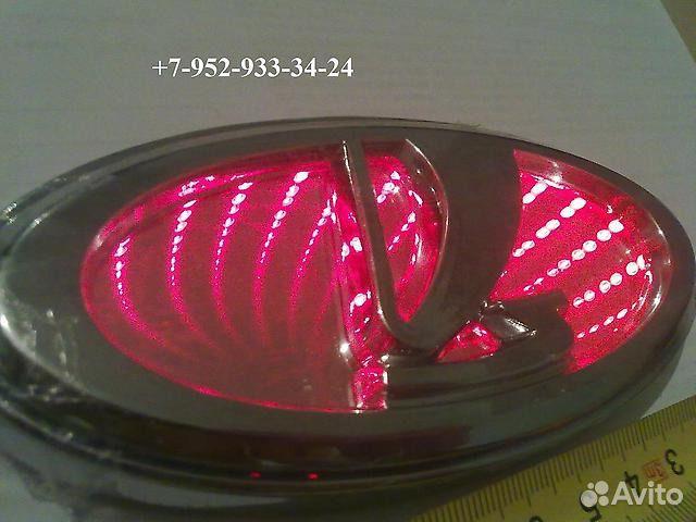 Эмблема ВАЗ 3D подсветка красная Цена:6 р