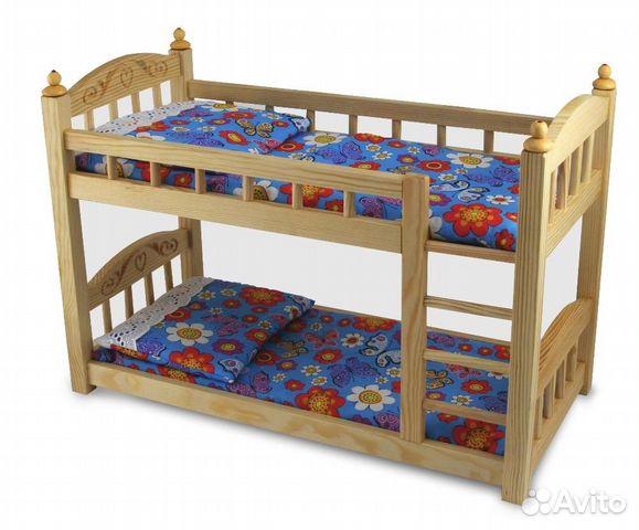 Как сделать для куклы двухэтажную кровать