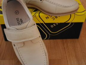 Новые кожаные полуботинки для мальчика