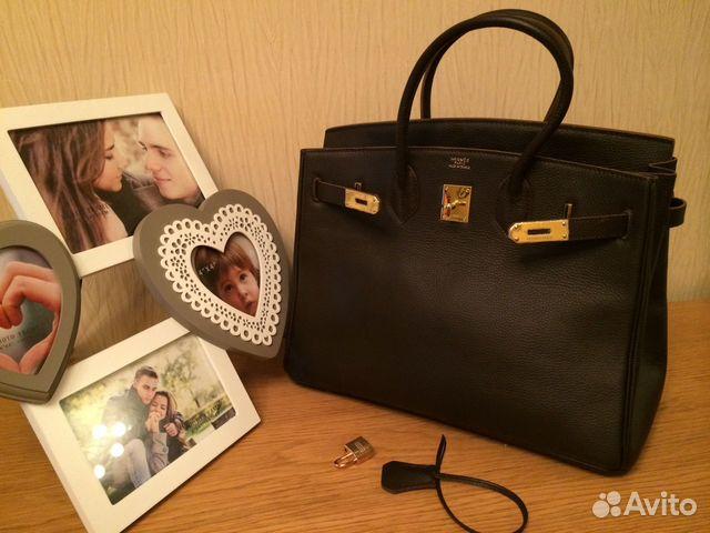 Коричневый гермес сумка