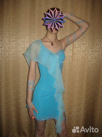 Цветок для платья латина