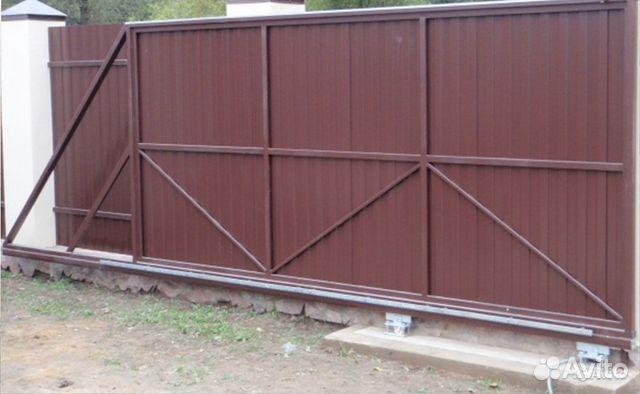Раздвижные ворота видео ворота для частного дома цены