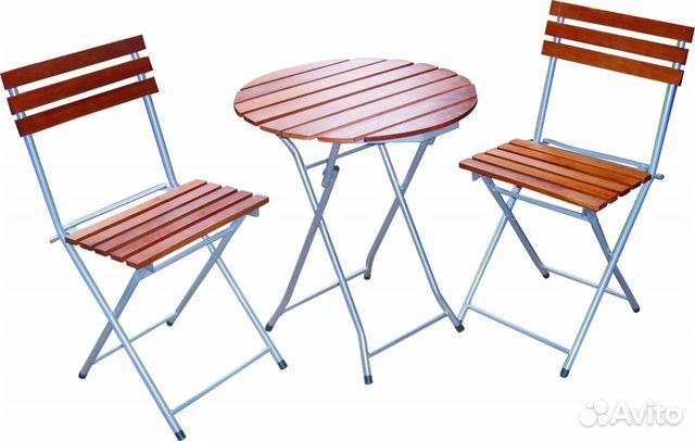 Стол и стулья (набор новый) для дачи, балкона купить в санкт.