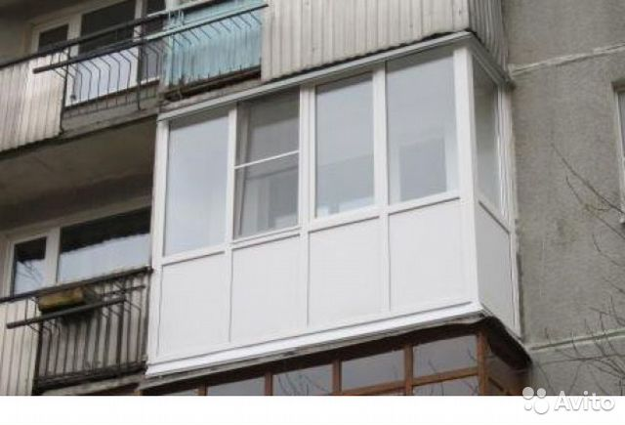 Балкон пвх 3150x800x2700 во всю высоту купить в Ярославской .