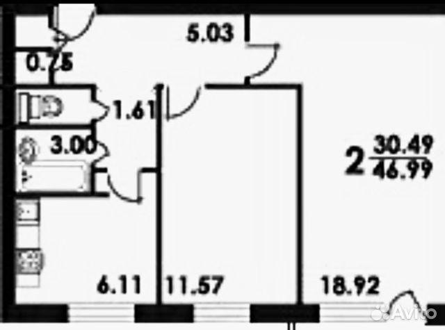 2-к квартира, 46 м?, 4/5 эт. - купить, продать, сдать или сн.