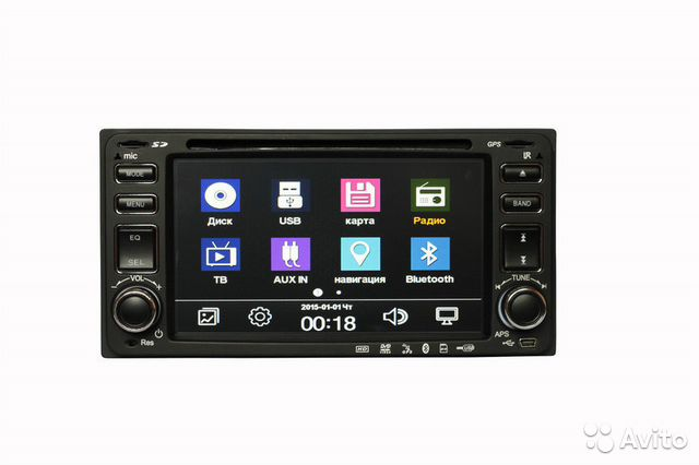 Магнитола Toyota CD/DVD,SD,Bluetooth,USB,AUX,AV— фотография №1
