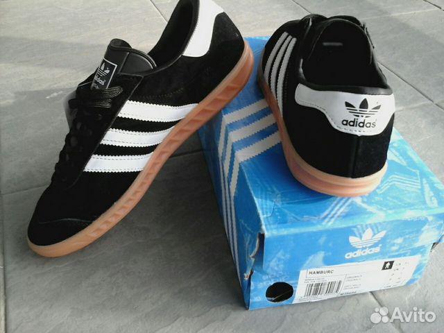 2415374d41a9 Кроссовки адидас, Adidas Hamburg, чёрные купить в Новосибирской ...