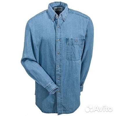 53e430124ca Мужская Джинсовая рубашка Wrangler купить в Москве на Avito ...