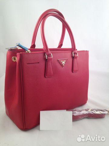 9ecad6e0dd26 Женская кожаная сумка Prada арт.011-2 купить в Москве на Avito ...