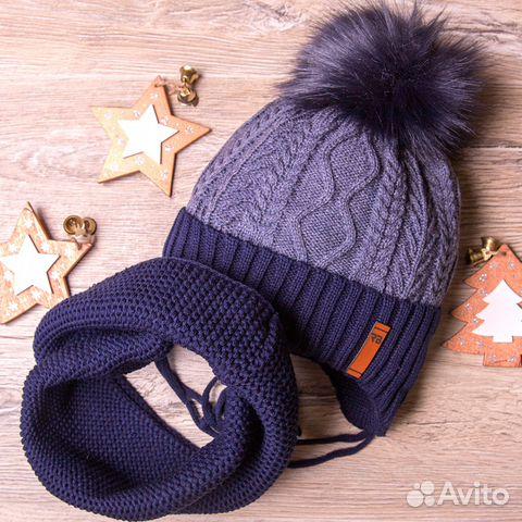 Набор:шапка+снуд новый,1,5-3 года