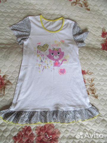 8d4e3d9bd002d89 Ночная рубашка (сорочка) на девочку, р. 134-140 купить в Санкт ...