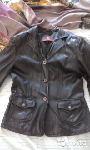 Кожаный пиджак 89137417780 купить 1