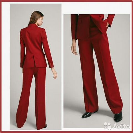 4eb662170ef2 Красный шерстяной костюм Massimo dutti