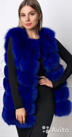 The vest is made of Fox fur. Art: 2525 buy 1