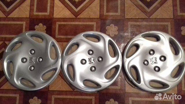Колпаки Peugeot 14 оригинал, 3 шт., заводские 89616992624 купить 1
