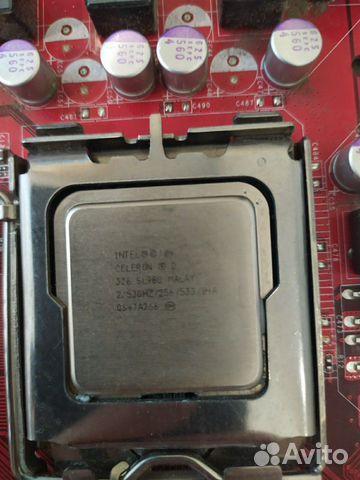 Материнская плата LGA 775 и процессор celeron D326