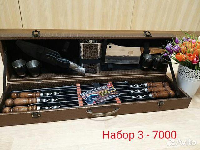 Подарочный набор шампуров для шашлыка в кейсе купить 4