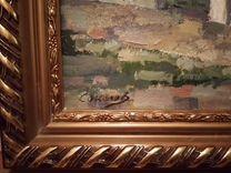 Картина масло, подписная