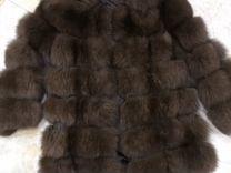 Шуба трансформер из песца цвета соболь — Одежда, обувь, аксессуары в Москве