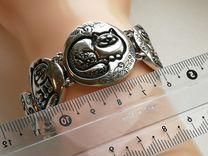 Браслет серебро Коты, 44 грамм, новый