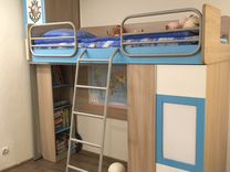 Детская мебель (шкаф, кровать, стеллаж, стол с тум