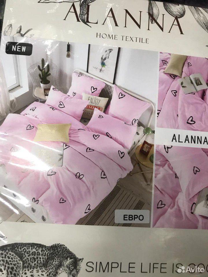 Евро Комплект постельного белья, Сатин  89630122262 купить 4