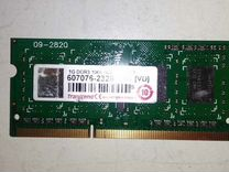 Оперативная память SO dimm Transcend 1Gb DDR3 8500