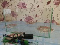 Продам аквариум с фильтром и обогревателем