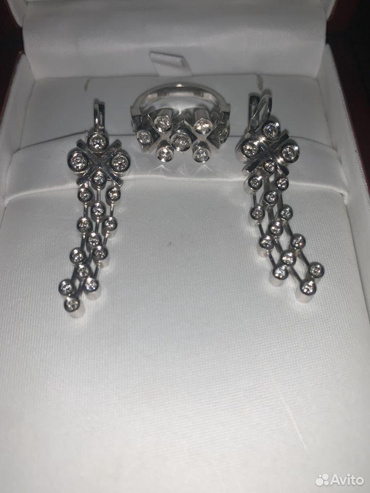 Комплект из Белого золота с бриллиантами  89674183060 купить 2