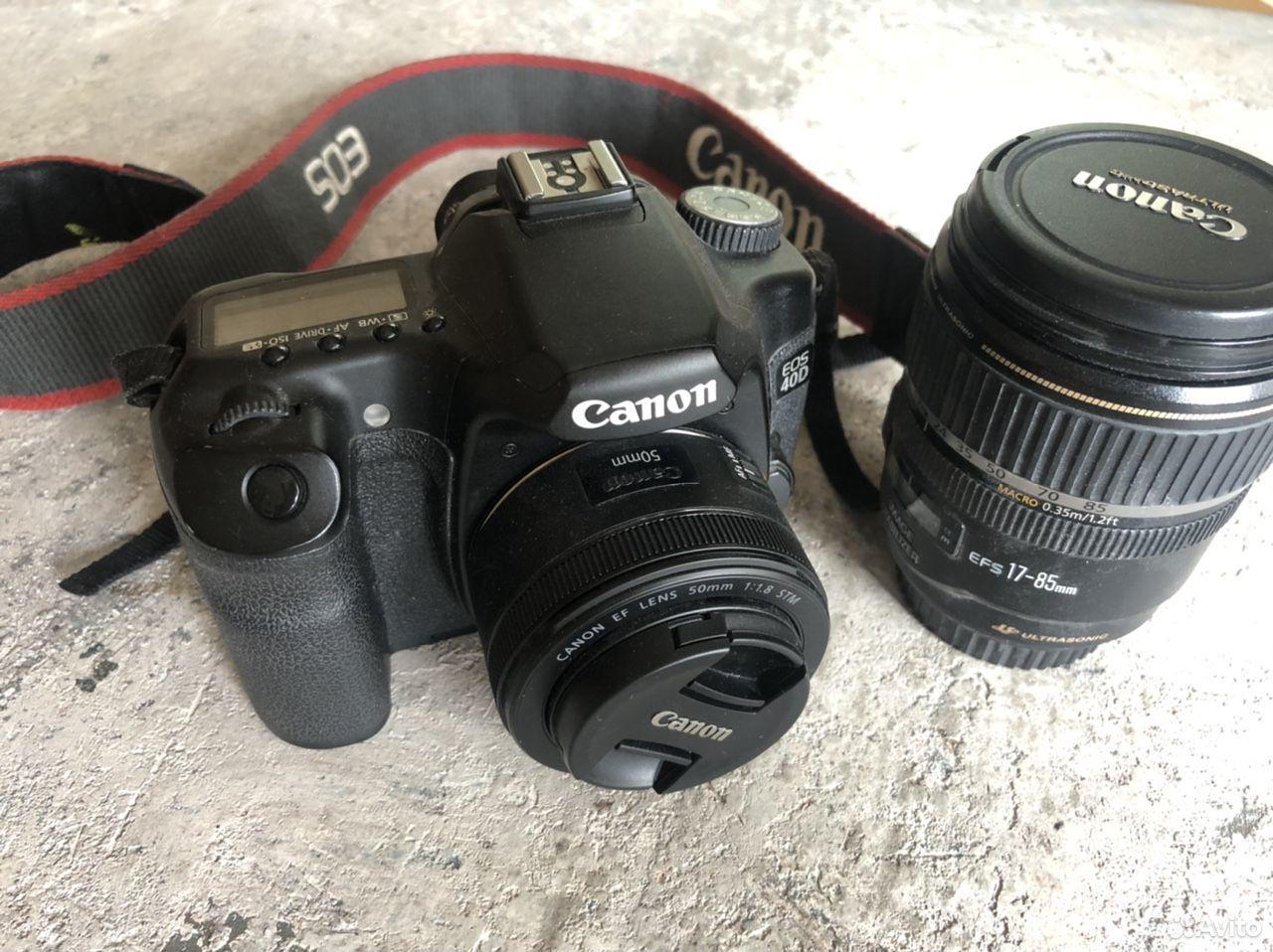 Зеркальный фотоаппарат Canon 40d  89211806235 купить 1