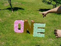Буквы для фотосессии на 1 годик
