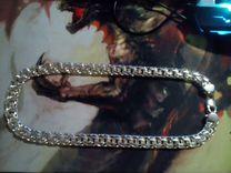 Серебрянная цепь Кайзер Бисмарк 154 гр 62см