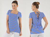 Новая красивая блузочка в морском стиле р.50