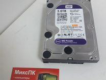 Hdd 3Тб wd purple, 24*7, для видеонаблюдения — Товары для компьютера в Самаре
