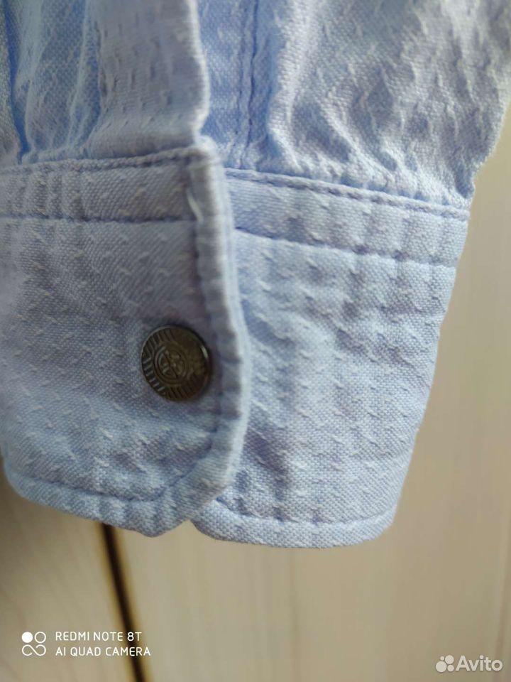 Рубашка голубая на рост 122см  89065035959 купить 3