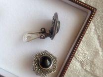 Серебряные клипсы стиля Шанель