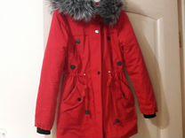 Парка Froggi красная женская зимняя — Одежда, обувь, аксессуары в Москве